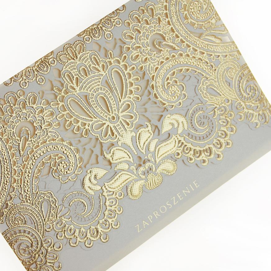 zaproszenia ślubne złote