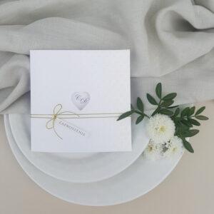 zaproszenia ślubne serce
