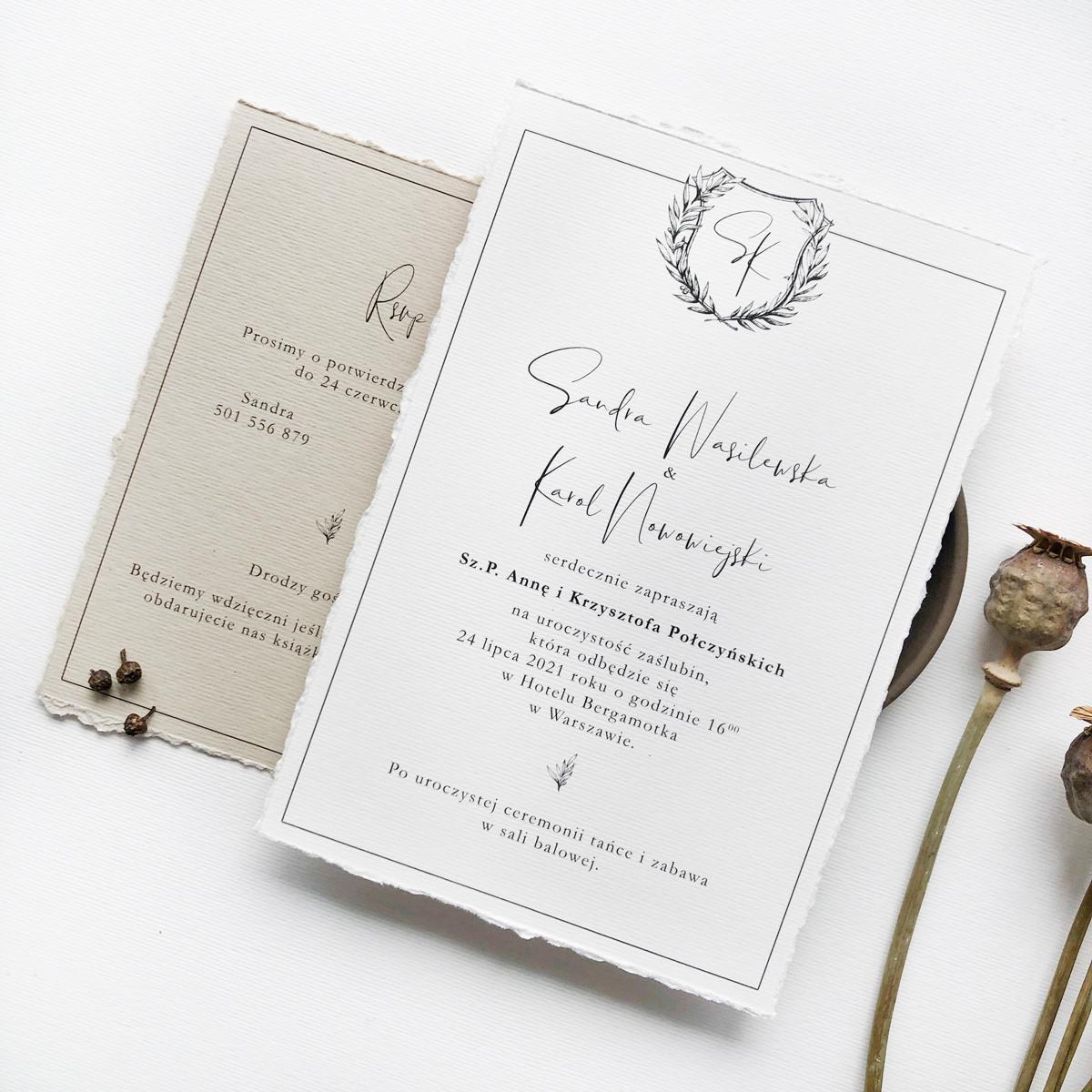 zaproszenia ślubne jesienne