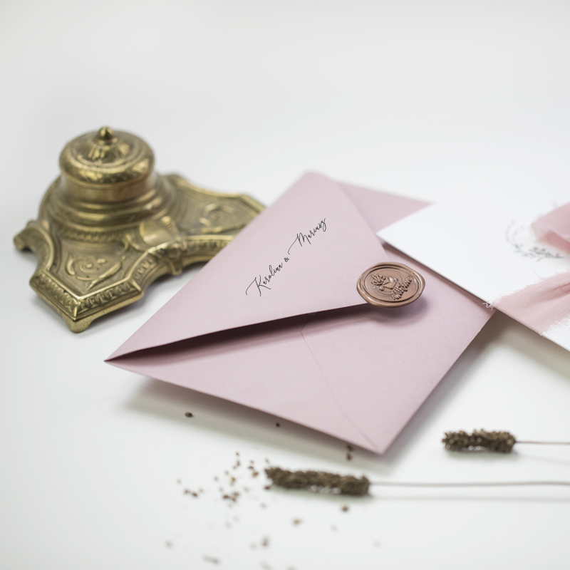 zaproszenia ślubne brudny róż