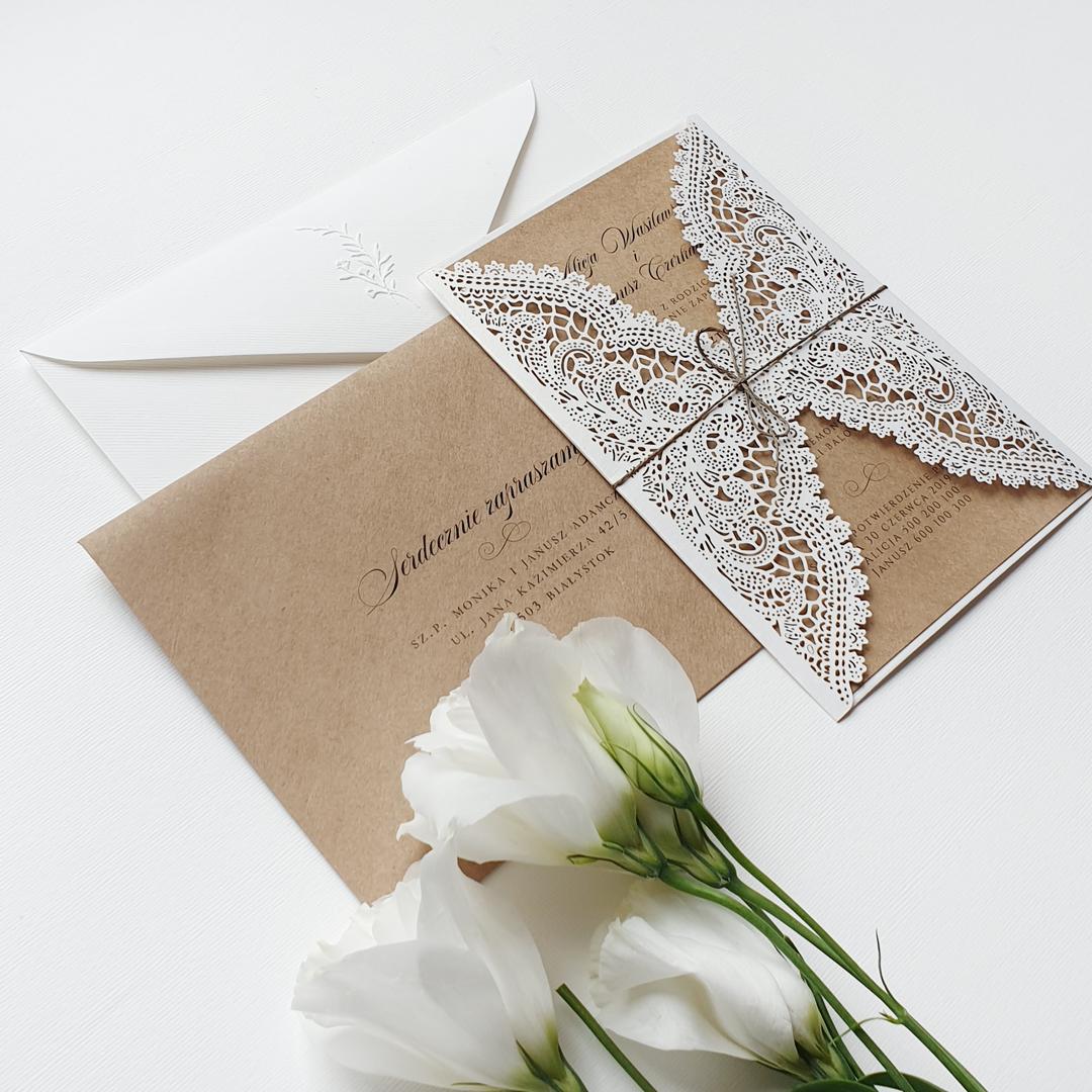 Zaproszenie ślubne rustykalne NATURE