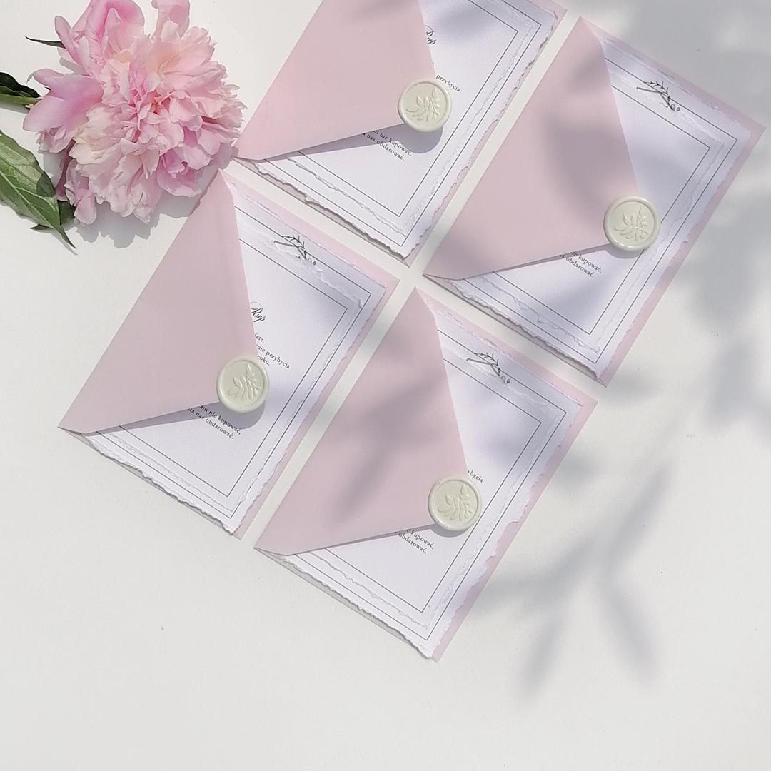 zaproszenia ślubne pudrowy róż2