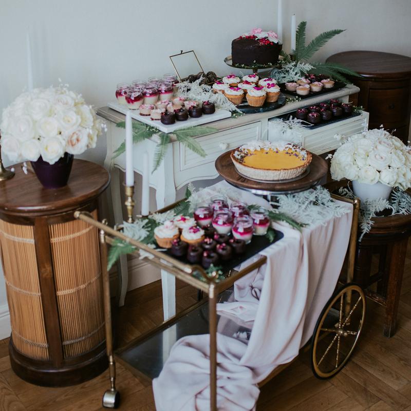 piękny słodki stół