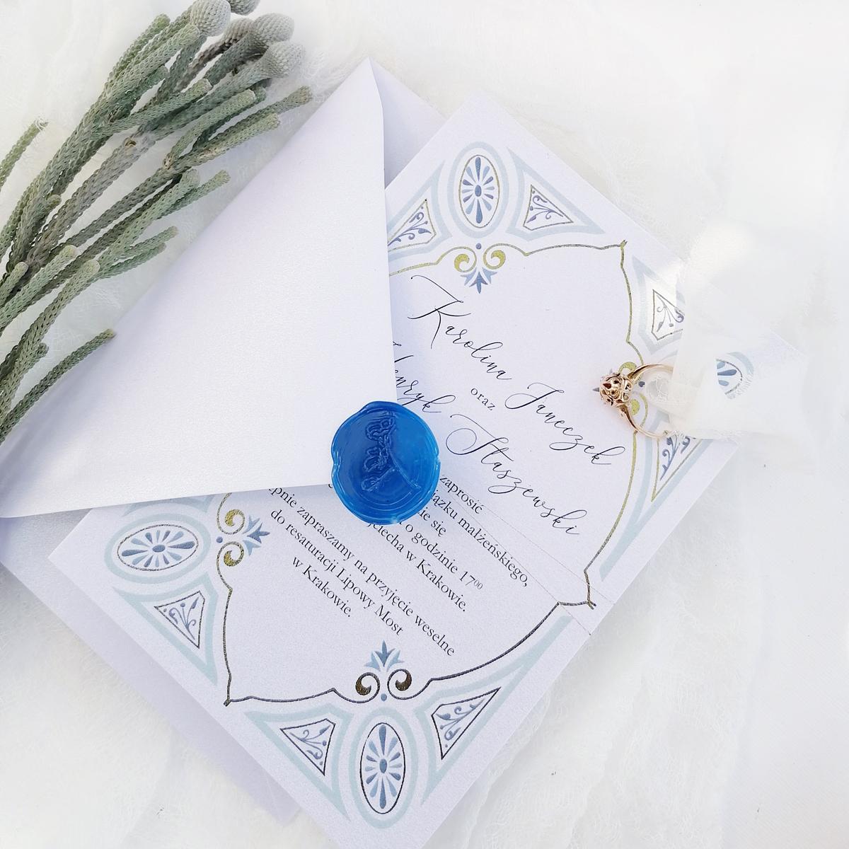 Zaproszenia Ślubne BLUE ORIENT