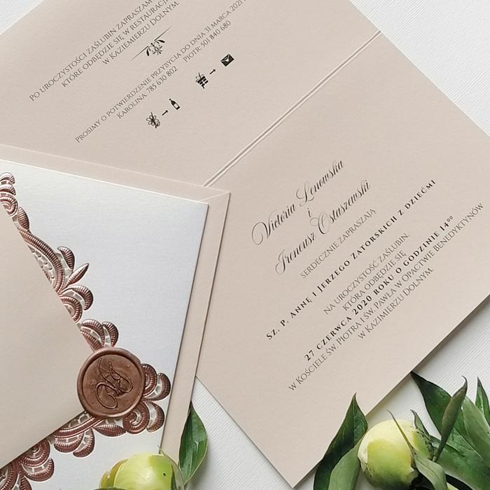 zaproszenia ślubne glamour