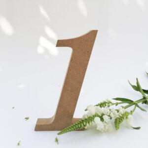 numery na stół rustykalne