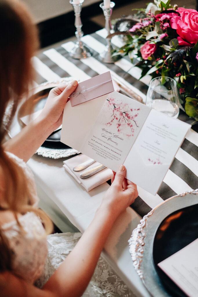 zaproszenie ślubne wiosenne