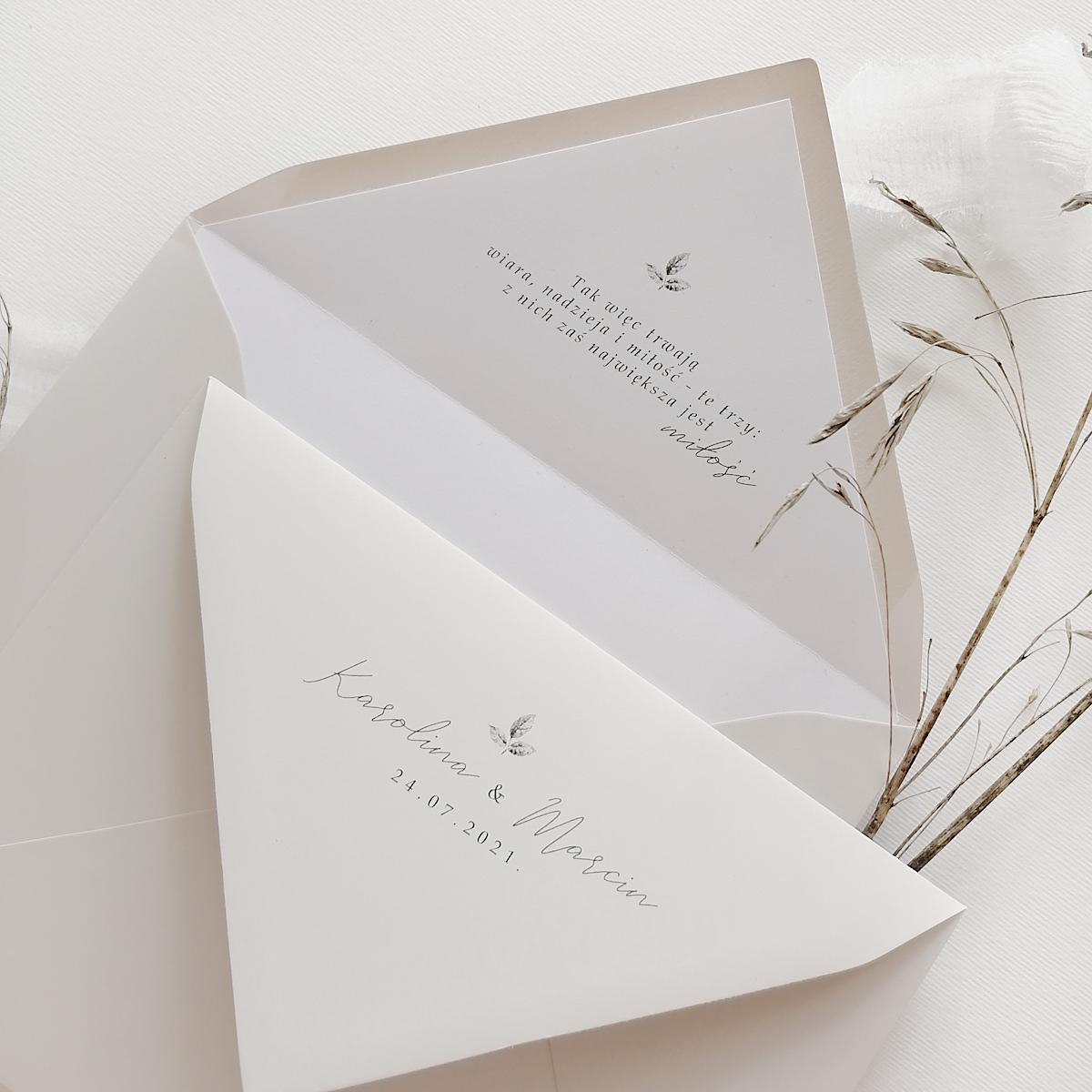 zaproszenia ślubne z lakiem