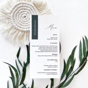 menu weselne z zielonym akcentem