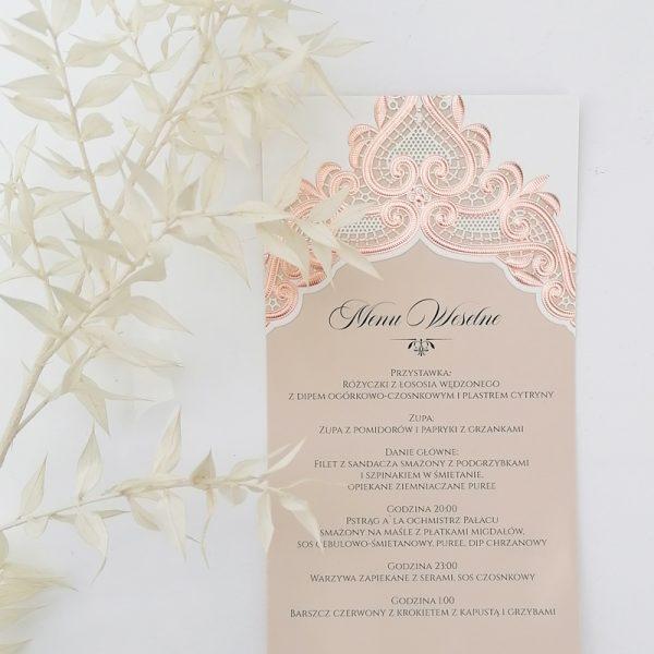 menu weselne glamour