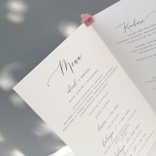 menu składane dusty pink 2