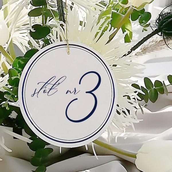 okrągłe numery stołów